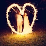 beautiful heart-shaped wedding sparklers